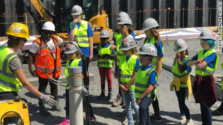 At the end of every Tools & Tiaras camp, Judaline Cassidy takes participants on a contruction site tour.