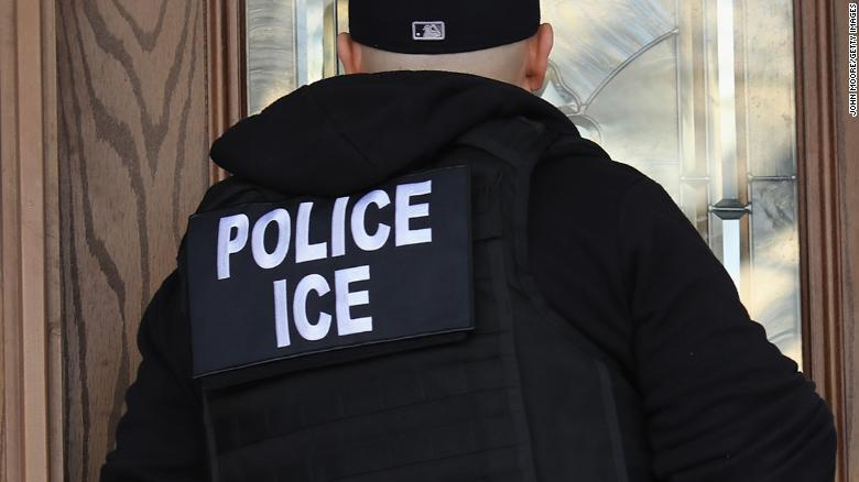 "NEW YORK, NY - APRIL 11:  U.S. Immigration and Customs Enforcement (ICE), officers arrive to a Flatbush Gardens home in search of an undocumented immigrant on April 11, 2018 in the Brooklyn borough of New York City. New York is considered a ""sanctuary city"" for undocumented immigrants, and ICE receives little or no cooperation from local law enforcement.  ICE said that officers arrested 225 people for violation of immigration laws during the 6-day operation, the largest in New York City in recent years. (Photo by John Moore/Getty Images)"