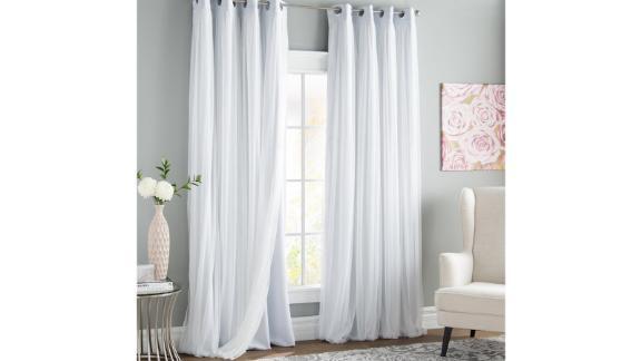 Rosdorf Park Brockham Solid Room Darkening Grommet Curtain Panels