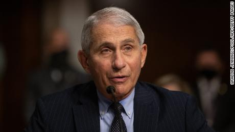 Dr. Anthony Fauci testifies during a US Senate hearing on September 23.