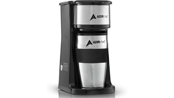 AdirChef Grab N' Go Personal Coffee Maker with 15-oz. Travel Mug