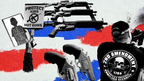 The different ways Trump and Biden talk about gun violence