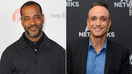"""(From left) Alex Désert took over the role of Black character Carl Carlson from Hank Azaria on """"The Simpsons"""" this week."""