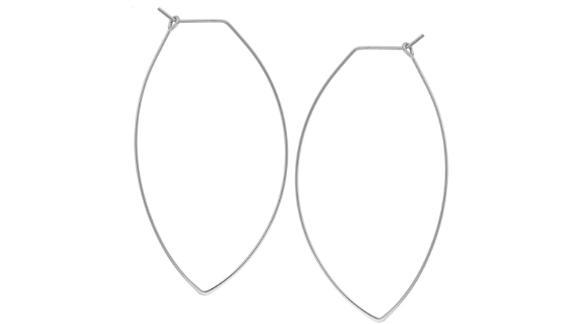 Marquise Threader Big Hoop Earrings