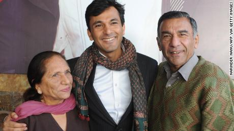 Family is very important to Vikas Khanna, seen here with his mother Bindu Khanna and father Davinder Khanna in 2012.