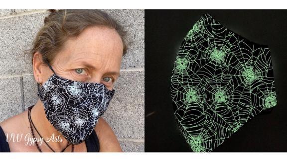 VWGypsyArts Glow-in-the-Dark Spiderweb Face Mask