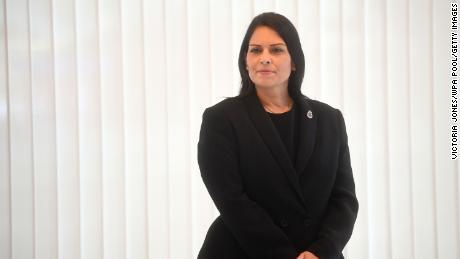 Priti Patel on September 25, 2020 in London, England. The British Home Secretary is the first woman of color to hold the role.