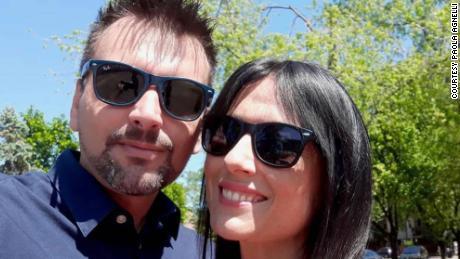 Michele D & # 39; Alpaos และ Paola Agnelli ในวันหนึ่งของพวกเขา