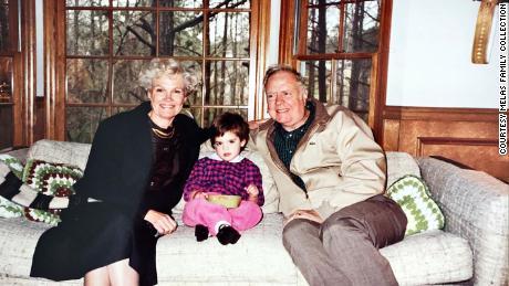 Chloe Melas with her grandparents Ann and Frank Murphy in Atlanta, Georgia in 1989