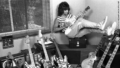 Eddie Van Halen at his home in Los Angeles in 1982.