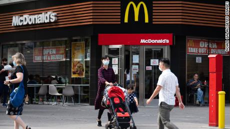 Sales at US McDonald's stores open at least a year jumped in the third quarter.