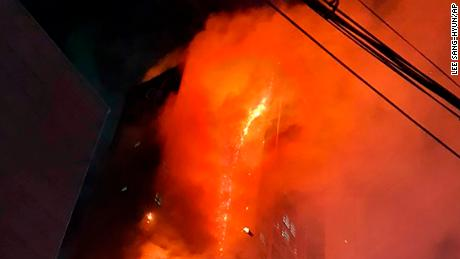88 people were hospitalized for smoke inhalation and other minor injuries, according to Ulsan authorities.