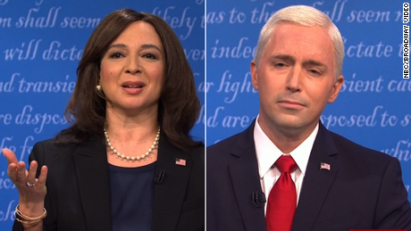 'SNL.'  Kamala mocks the VP discussion between Harris, Mike Pence and Fly