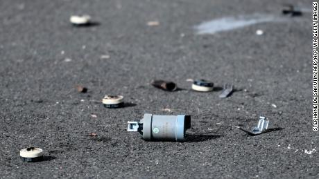 Paris police station targeted in 'violent attack'