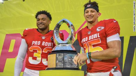 Jamal Adams and Patrick Mahomes were co-MVPs after the 2019 NFL Pro Bowl.