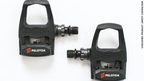 Peloton issued a recall of its first-generation PR70P clip-in bike pedals (pictured) on Thursday, October 15.