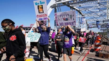 Dozens of Women's March rallies were planned across the country, including one in Nashville, Tennessee.