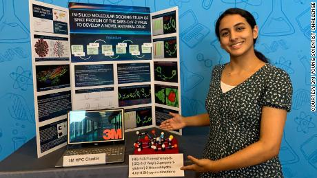 This 14-year-old girl won a $25K prize for a discovery that could lead to a cure for Covid-19