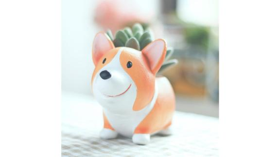 Small Corgi Planter