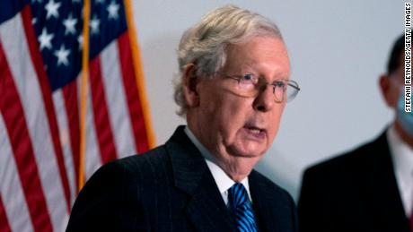 Senate Majority Leader Mitch McConnell speaks during a news conference in October in Washington.