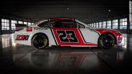 The 23XI Racing team's No. 23 Toyota.