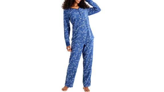 Charter Club Thermal Fleece Printed Pajama Set