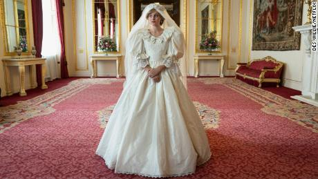 """Emma Corrin stars as Lady Diana Spencer on her path to becoming Princess of Wales in season four of """"The Crown."""""""
