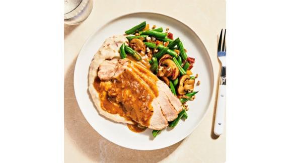 Freshly Carved Thanksgiving Dinner