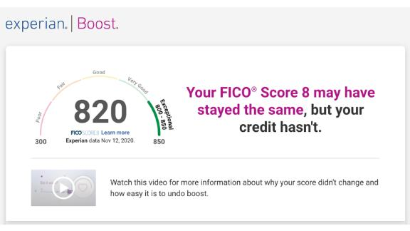 Our reviewers didn't see any change to our FICO® Score with Experian Boost, but people with little to no credit history and those with very poor to fair credit generally see the biggest increases.