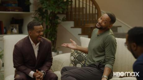 """""""The Fresh Prince of Bel-Air"""" cast including Alfonso Ribeiro (left) and Will Smith (right) reunited for a special to mark its 30th anniversary."""