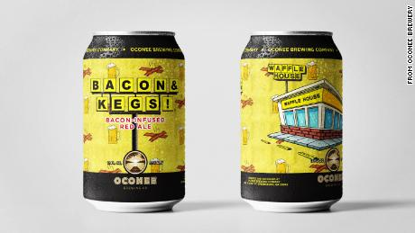 Waffle House teams up with Georgia's Oconee Brewing Company to produce a bacon-flavored beer