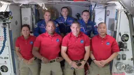 It's a full house on the International Space Station with 7 people — and Baby Yoda