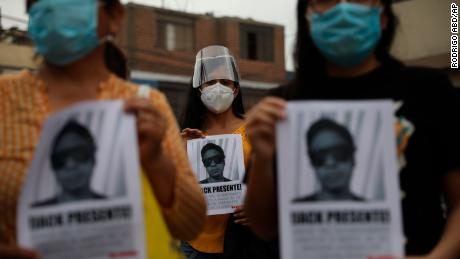Jack Bryan Pintado Sanchez อายุ 22 ปีเป็นหนึ่งในสองผู้ประท้วงที่เสียชีวิต