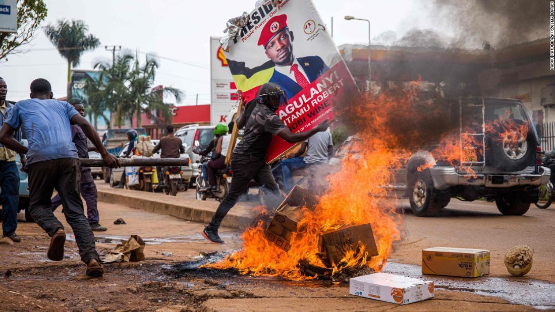 Protests after the arrest of Bobi Wine, Ugandan presidential candidate -