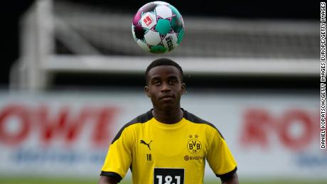 Youssoufa Moukoko has risen through Dortmund's youth ranks.