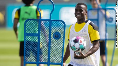 Youssoufa Moukoko could make his first team debut with Dortmund this weekend.