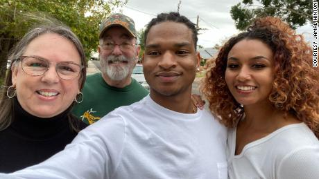 From left, Wanda Dench, her husband Lonnie Dench, Jamal Hinton and his girlfriend Mikaela Autumn.