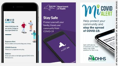Some states have launched apps to alert residents when they may have been exposed to coronavirus.