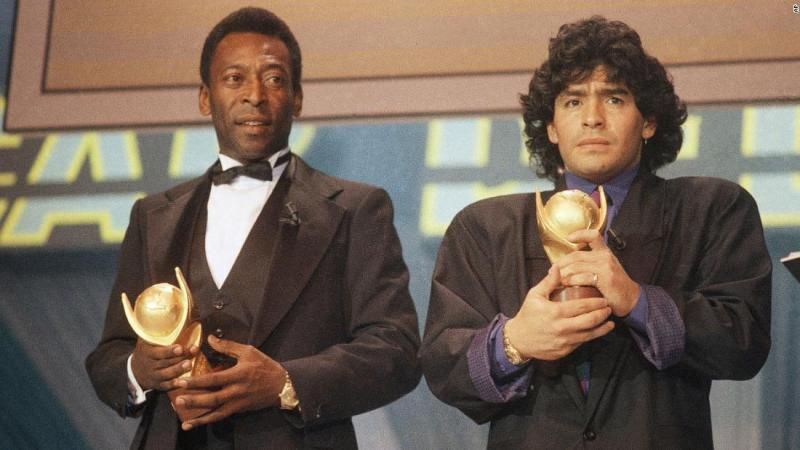 'We will play football together in heaven,' says Pele in tribute to Maradona