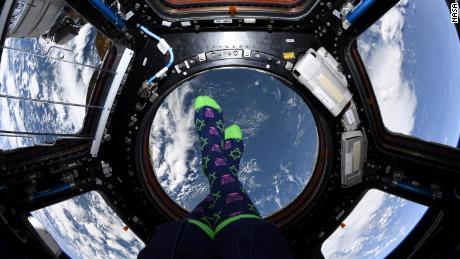 Mir showcased her hanukka socks in the cupola.