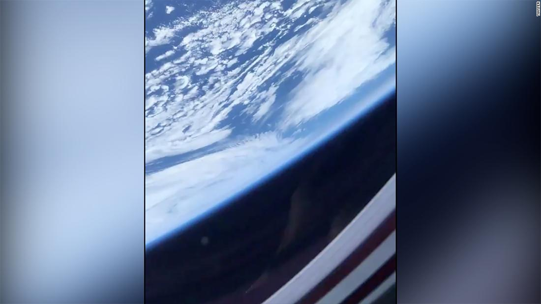 NASA astronaut Victor Glover shares his first video from SPACE