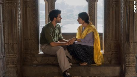 "Danesh Razvi as Kabir Durrani (left) and Tanya Maniktala as Lata Mehra (right) star in ""A Suitable Boy."""