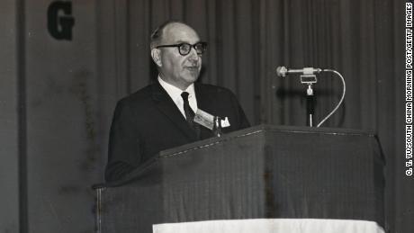 Sir John Cowperthwaite, Hong Kong's former Financial Secretary.