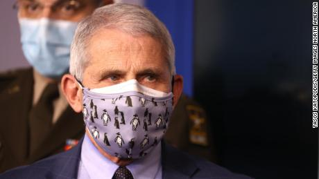 Dr. Anthony Fauci at a White House task force press briefing on November 19.