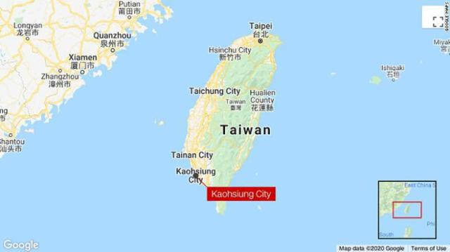 The man broke quarantine in a hotel in Kaohsiung City, Taiwan.