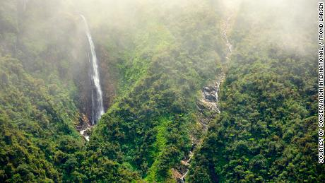Beautiful waterfalls and cascades run throughout the Andean mountains.