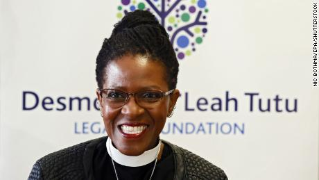 The Reverend Canon MFO Tutu van Firth was a keynote speaker at Wednesday's event.