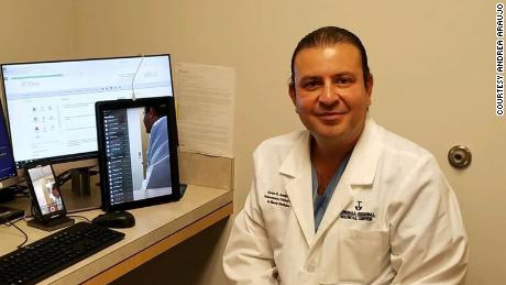 Dr. Carlos Araujo Preza, a Houston-area pulmonologist who died after contracting Covid-19 while caring for patients.