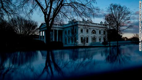 On December 21, 2020, the sun sets at the White House.