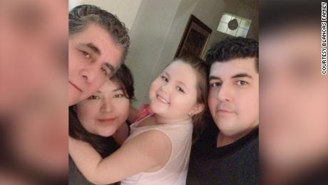 "Zelin was Blancas ""Best aunt,"" Said his brother.  She is seen here with her father, niece and brother."